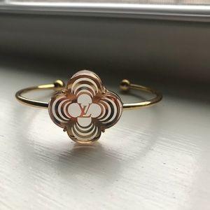 LOUIS VUITTON VINTAGE flower charm bracelet
